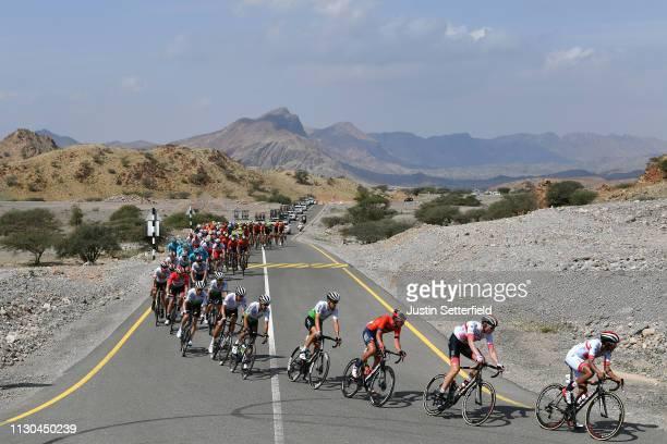 Sonny Colbrelli of Italy and Team Bahrain Merida / Rui Alberto Faria Da Costa of Portugal and UAE Team Emirates / Jacobus Venter of South Africa and...