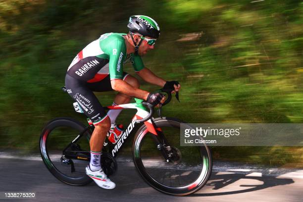 Sonny Colbrelli of Italy and Team Bahrain Victorious competes during the 17th Benelux Tour 2021, Stage 6 a 207,6km stage from...