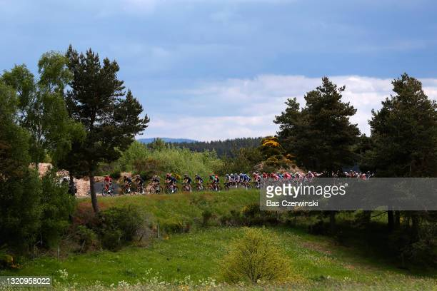 Sonny Colbrelli of Italy and Team Bahrain Victorious Green Points Jersey & The peloton during the 73rd Critérium du Dauphiné 2021, Stage 2 a 172,8km...