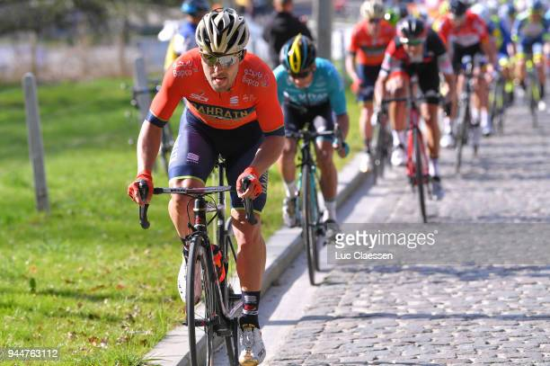 Sonny Colbrelli of Italy and Team Bahrain-Merida / during the 58th Brabantse Pijl 2018 / La Flèche Brabanconne a 201,9km race from Leuven to Overijse...