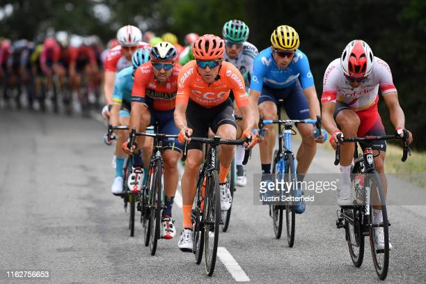 Sonny Colbrelli of Italy and Team Bahrain-Merida / Serge Pauwels of Belgium and CCC Team / Julien Simon of France and Team Cofidis Solutions Credits...