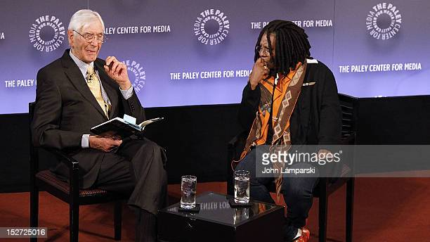 Sonny Fox and Whoopi Goldberg attend Sonny Fox Forty Years In Television A Conversation With Whoopi Goldberg at The Paley Center for Media on...
