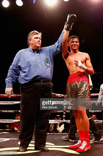Sonny Fredrickson is announced winner by unanimous decision against Ramon Ellis during their Junior Welterweight bout at throne boxing presented by...