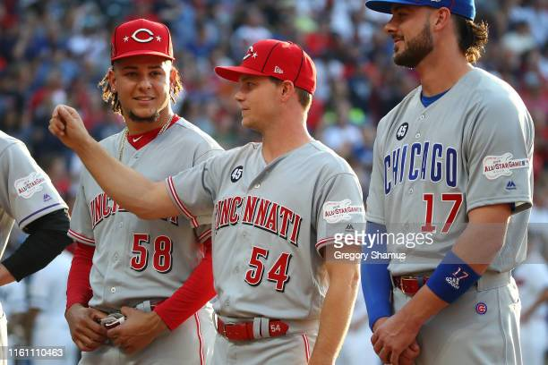Sonny Gray of the Cincinnati Reds participates in the 2019 MLB All-Star Game at Progressive Field on July 09, 2019 in Cleveland, Ohio.