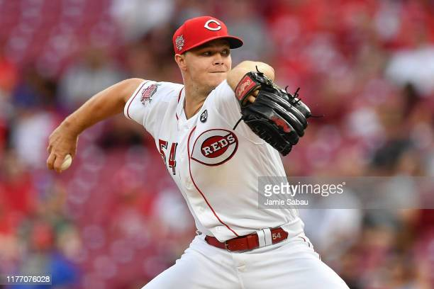 Sonny Gray of the Cincinnati Reds pitches against the Milwaukee Brewers at Great American Ball Park on September 24, 2019 in Cincinnati, Ohio.