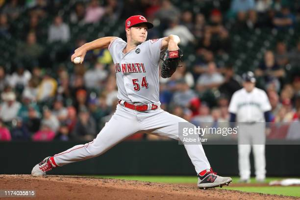 Sonny Gray of the Cincinnati Reds pitches against the Seattle Mariners in the sixth inning during their game at T-Mobile Park on September 11, 2019...