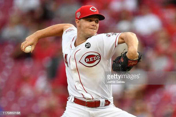 Sonny Gray of the Cincinnati Reds pitches in the second inning against the Milwaukee Brewers at Great American Ball Park on September 24, 2019 in...