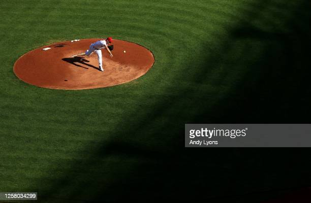 Sonny Gray of the Cincinnati Reds throws a pitch against the Detroit Tigers during the Opening Day of the 2020 season for both teams at Great...