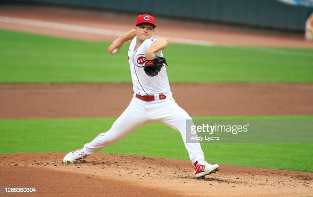 Sonny Gray of the Cincinnati Reds throws a pitch against the Pittsburgh Pirates at Great American Ball Park on August 14, 2020 in Cincinnati, Ohio.