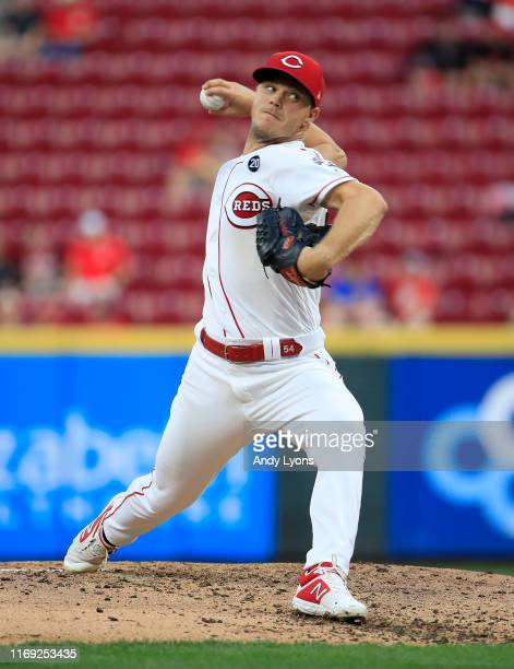 Sonny Gray of the Cincinnati Reds throws a pitch against the San Diego Padres at Great American Ball Park on August 20, 2019 in Cincinnati, Ohio.