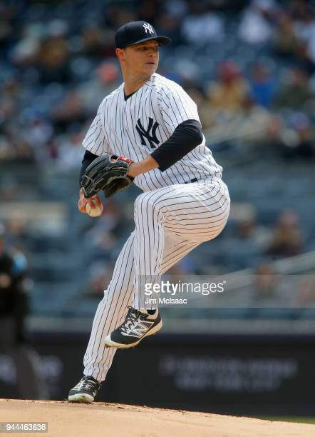Sonny Gray of the New York Yankees in action against the Baltimore Orioles at Yankee Stadium on April 7 2018 in the Bronx borough of New York City...