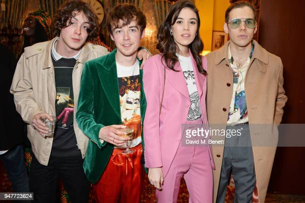 Sonny Hall Alex Lawther Gala Gordon and James Righton attend a dinner hosted by Gucci to celebrate #GucciHallucination A Limited Line featuring...