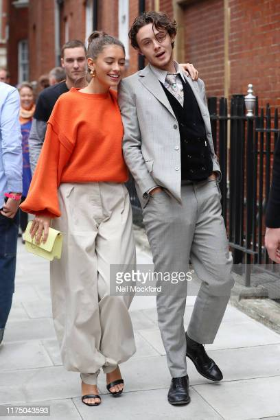 Sonny Hall and Iris Law attends JW Anderson at Yeomanry House during LFW September 2019 on September 16 2019 in London England
