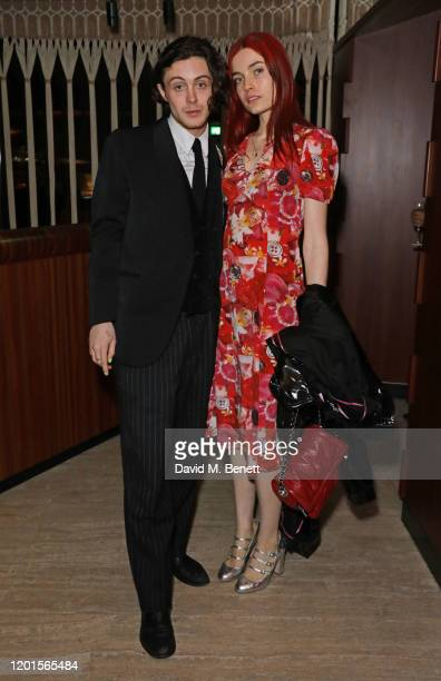 Sonny Hall and Puma Rose attend the LOVE Magazine LFW Party celebrating issue 23 at The Standard London on February 17 2020 in London England LOVE...