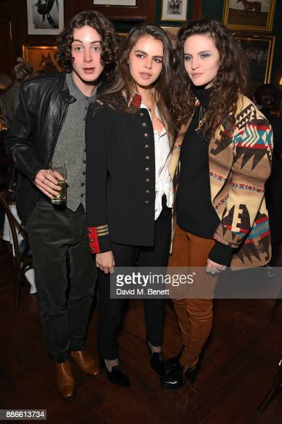 Sonny Hall Bee Beardsworth and Daisy Maybe attend the Polo Bear Holiday Dinner hosted by Polo Ralph Lauren and Alexandra Richards at Ralph's Coffee...