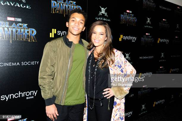 Sonny Hostin attends The Cinema Society with Ravage Wines Synchrony host a screening of Marvel Studios' 'Black Panther' at The Museum of Modern Art...