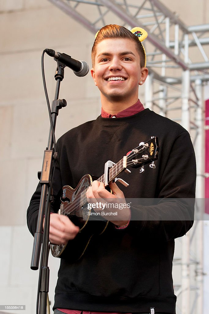Sonny Jay of The Loveable Rogues performs at the BBC Children In Need Pudsey Street event at Covent Garden on November 3, 2012 in London, England.