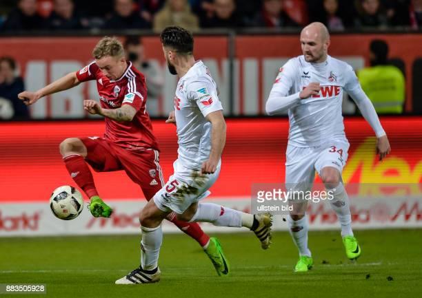 Sonny Kittel im Zweikampf mit Dominic Maroh waehrend dem Fussball Bundesliga Spiel FC Ingolstadt 04 gegen 1 FC Koeln am 24 Spieltag der Saison...