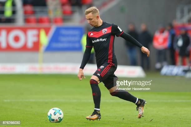 Sonny Kittel of Ingolstadt runs with the ball during the Second Bundesliga match between FC Ingolstadt 04 and Fortuna Duesseldorf at Audi Sportpark...