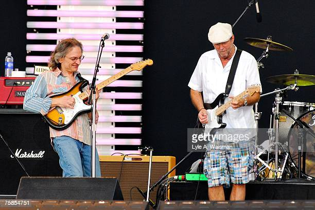 Sonny Landreth and Eric Clapton performs at Eric Clapton's Crossroads Guitar Festival 2007 to benefit the Crossroads Centre in Antigua July 28 2007...