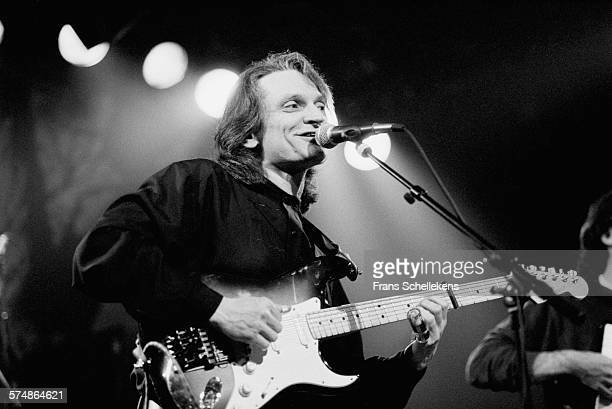 February 25: Sonny Landreth, guitar, performs on February 25th 1995 at the Melkweg in Amsterdam, the Netherlands.