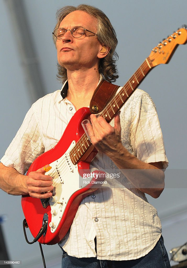Sonny Landreth performs during the 2012 New Orleans Jazz & Heritage Festival Day 3 at the Fair Grounds Race Course on April 29, 2012 in New Orleans, Louisiana.