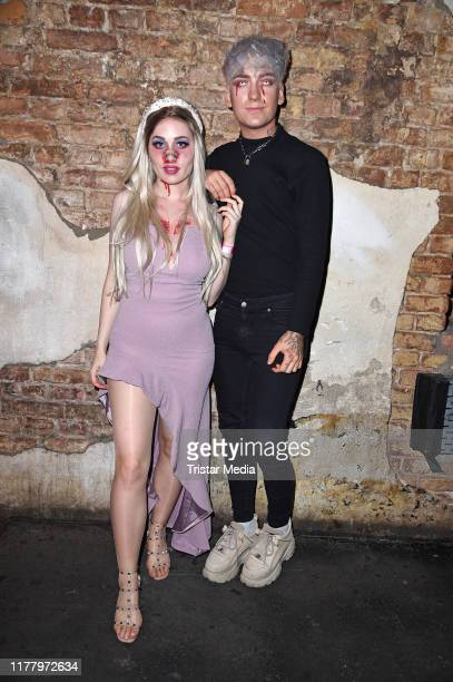 Sonny Loops and Fabi Wndrlnd during the Wonderland after Dark by NYX Professional Makeup Halloween Party at Club Schwuz on October 24 2019 in Berlin...