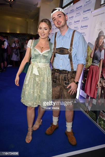 Sonny Loops and Marcel Scorpion attend the Angermaier Trachtennacht at Hofbraeu Wirtshaus on August 29 2019 in Berlin Germany