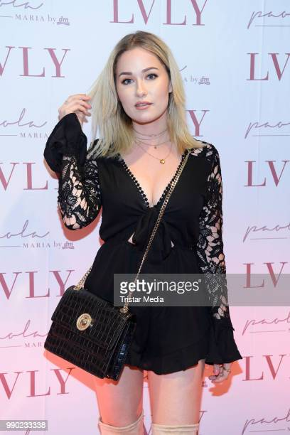 Sonny Loops attends the 'Lvly' care series launch by Paola Maria and DM Drugstore at Invalidenstrasse on July 2 2018 in Berlin Germany