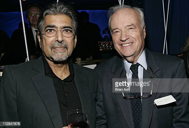Sonny Mehta and Andre Solmer at the Bon Appetit Supper Club hosts tribute dinner for Knopf editor Judith Jones on October 30 at the Bon Appetit...