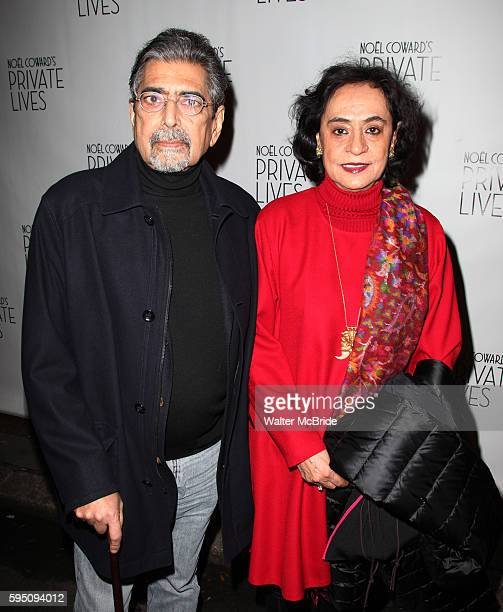 Sonny Mehta and Gita Mehta attending the Opening Night Performance of 'Private Lives' at the Music Box Theatre in New York City on