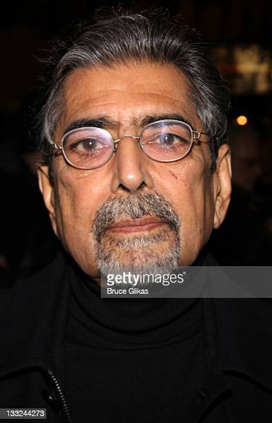 Sonny Mehta attends the Private Lives Broadway opening night at the Music Box Theatre on November 17 2011 in New York City