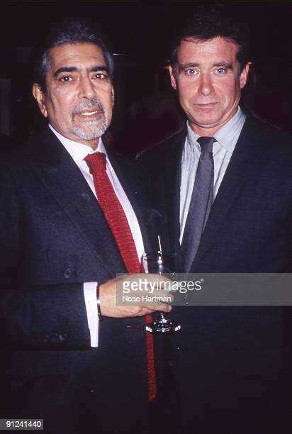 Sonny Mehta Jay McInerney at a book party for McInerney held at the Odeon restaurant in Tribeca New York 1985
