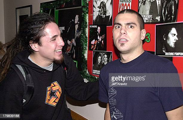 Sonny of POD and Dryden from Alien Ant Farm during 2001 KROQ Acoustic Xmas in Universal City California United States