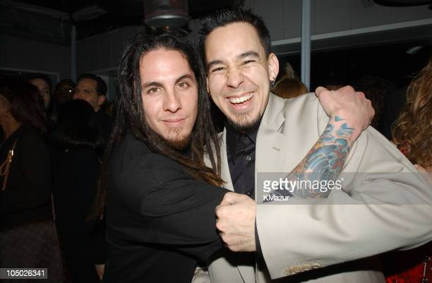 Sonny of POD and Linkin Park's Mike Shinoda during 44th GRAMMY Awards Warner Music Group Party at the Mondrian in West Hollywood at The Mondrian...