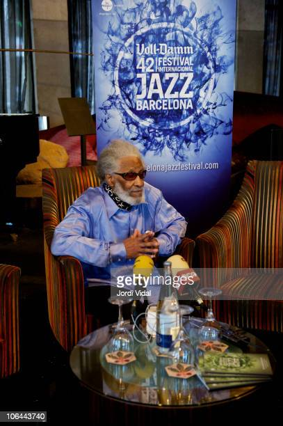 Sonny Rollins attends a press conference a press conference at Hotel Casa Fuster on November 2 2010 in Barcelona Spain
