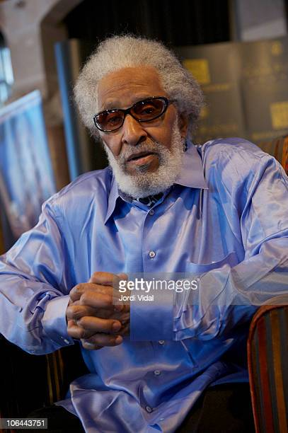 Sonny Rollins during a press conference at Hotel Casa Fuster on November 2 2010 in Barcelona Spain