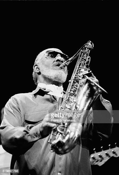 Sonny Rollins, tenor saxophone, performs at the Muziektheater on May 30th 1995 in Amsterdam, Netherlands.