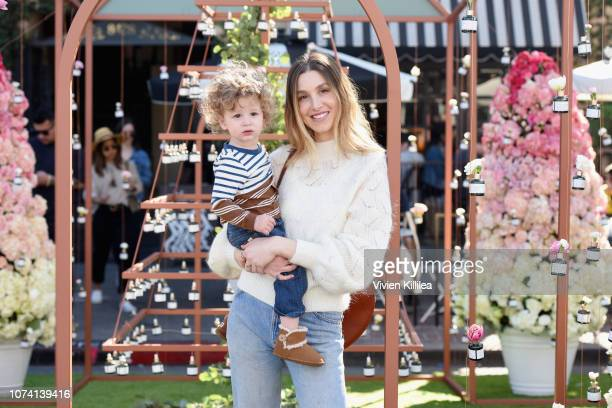 Sonny Sanford Rosenman and Whitney Port attend the Biossance's Miracle on Melrose at the Melrose Farmer's Market on December 16 2018 in Los Angeles...