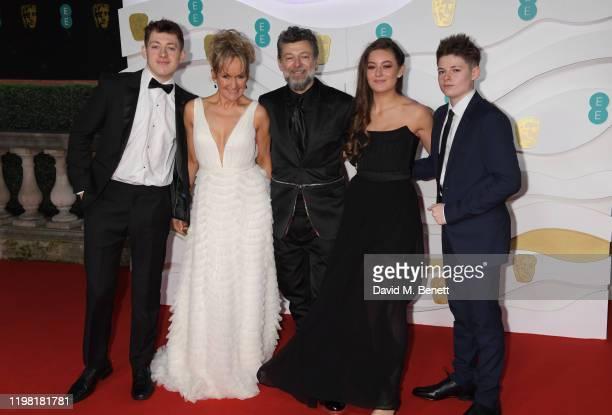 Sonny Serkis Lorraine Ashbourne Andy Serkis Ruby Serkis and Louis Serkis arrive at the EE British Academy Film Awards 2020 at Royal Albert Hall on...