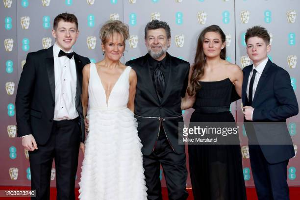 Sonny Serkis Lorraine Ashbourne Andy Serkis Ruby Serkis and Louis Serkis attend the EE British Academy Film Awards 2020 at Royal Albert Hall on...