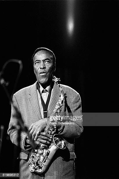 Sonny Simmons, tenor saxophone-alto saxophone, performs on May 30th 1997 at the BIM huis in Amsterdam, Netherlands.