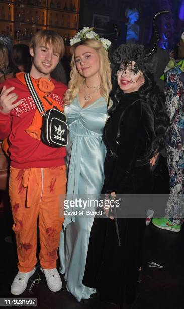 Sonny Starkey Mercy Cutler and Fran Cutler attend The Cursed Voyage of HMS Berners in collaboration with Project 0 and Grey Goose at The London...