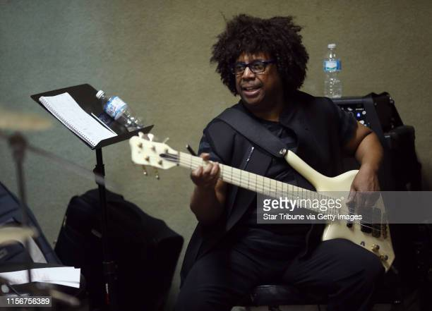 Sonny Thompson played the bass, as members of The New Power Generation Band rehearsed for and upcoming Prince tribute concert at the Parkway Theater...