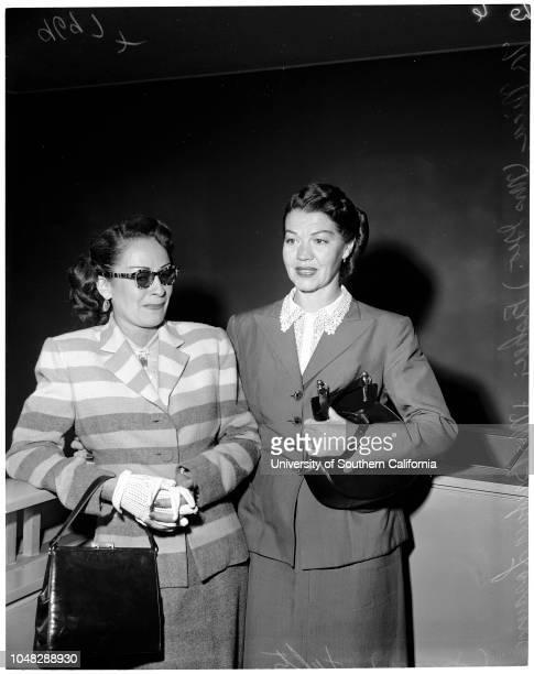 Sonny Tufts divorce September 17 1952 Nica FisherMrs Barbara Lorayne TuftsCaption slip reads 'Photographer Sandusky Date Assignment Sonny Tufts...