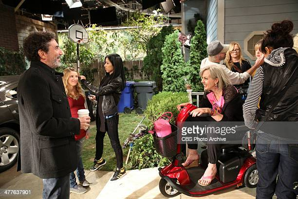 'Sonograms and Tube Tops' Behind the scenes on MOM including executive producer Chuck Lorre and Allison Janney in special hair and makeup to show...