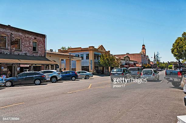 sonoma plaza views with visitors - sonoma county stock pictures, royalty-free photos & images