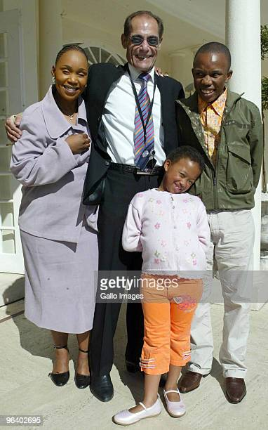 FILE PICTURE Sonono Khoza Peter Mencer head of PSL marketing Mpumi Khoza and Thando Motaung pose on June 7 2006 in Johannesburg South Africa...