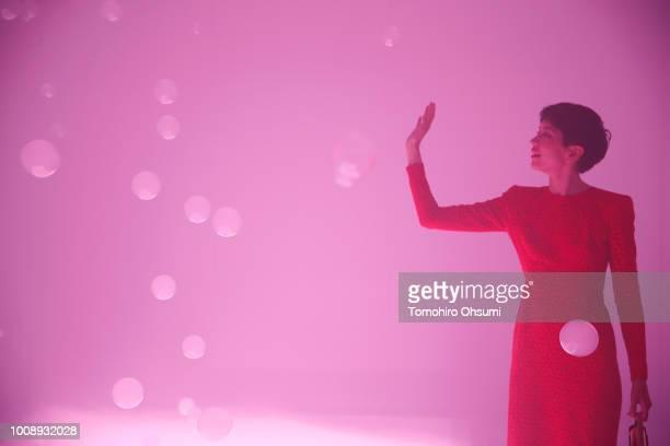 Sonoya Mizuno attends the Shiseido Makeup Tokyo Launch Event on August 1 2018 in Tokyo Japan