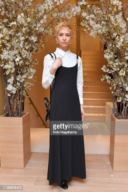 Sonoya Mizuno attends the Tory Burch Ginza Boutique Opening on April 02 2019 in Tokyo Japan